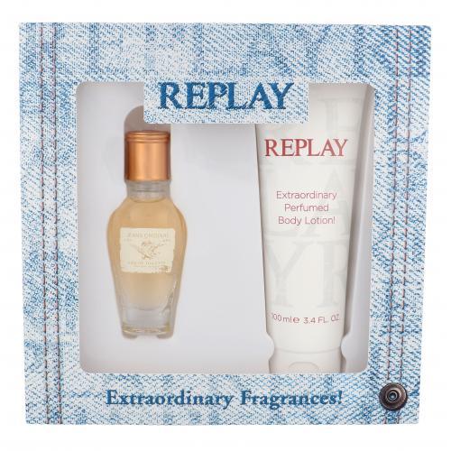 Replay Jeans Original! For Her darčeková kazeta pre ženy toaletná voda 20 ml + telové mlieko 100 ml