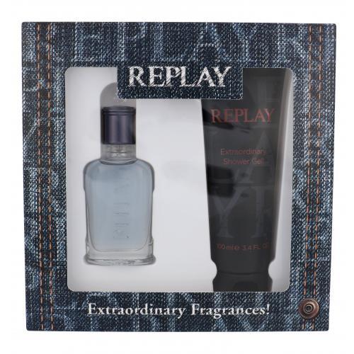 Replay Jeans Spirit! For Him darčeková kazeta pre mužov toaletná voda 30 ml + sprchovací gél 100 ml