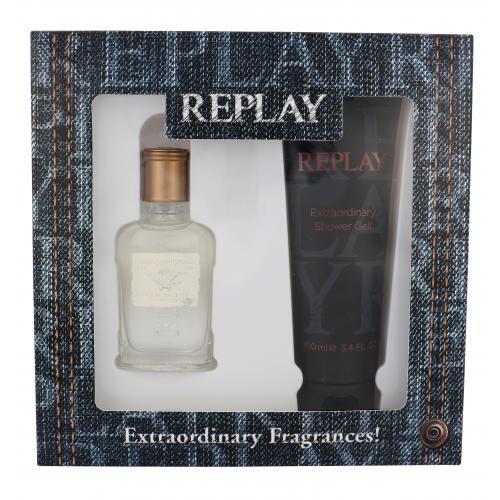 Replay Jeans Original! For Him darčeková kazeta pre mužov toaletná voda 30 ml + sprchovací gél 100 ml