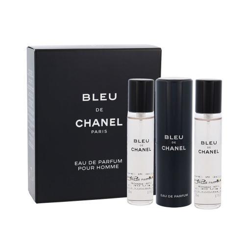 Chanel Bleu de Chanel 3x20 ml parfumovaná voda Twist and Spray pre mužov miniatura