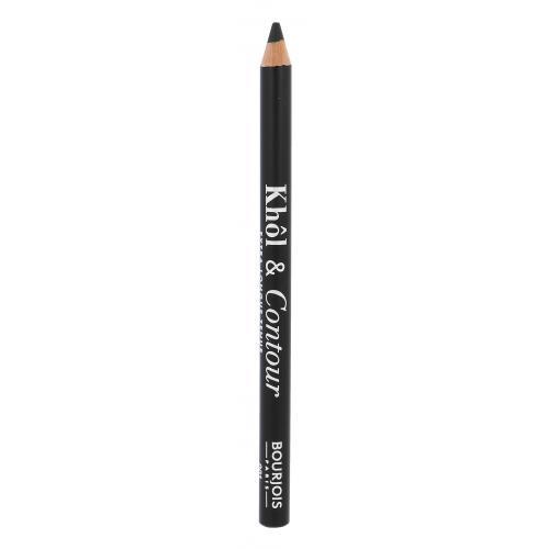BOURJOIS Paris Khol & Contour 1,2 g dlhotrvajúca ceruzka na oči pre ženy 001 Noir-issime