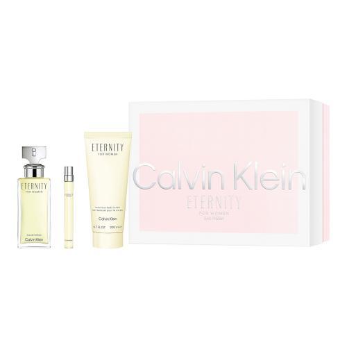 Calvin Klein Eternity darčeková kazeta pre ženy Edp 100ml + 200ml tělové mléko + 10ml miniatura