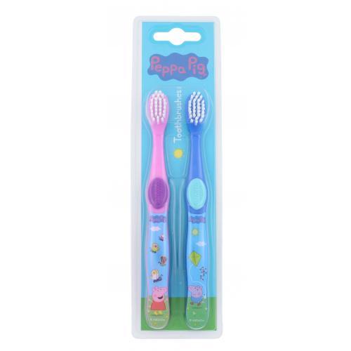 Peppa Pig Peppa detské zubné kefky pre deti zubná kefka 2 ks