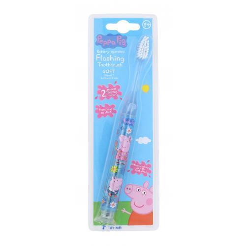 Peppa Pig Peppa Battery-Operated Flashing Toothbrush 1 ks detská zubná kefka pre deti