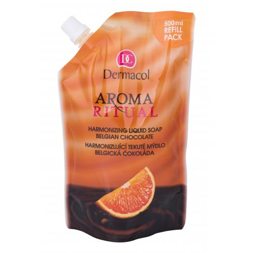 Dermacol Aroma Ritual Belgian Chocolate 500 ml tekuté mydlo na ruky Náplň pre ženy
