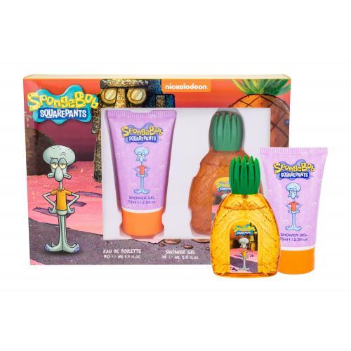 SpongeBob Squarepants Squidward darčeková kazeta pre deti toaletná voda 50 ml + sprchovací gél 75 ml