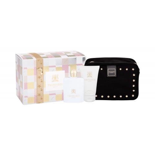 Trussardi Donna 2011 darčeková kazeta pre ženy parfumovaná voda 100 ml + telové mlieko 100 ml + kozmetická taška