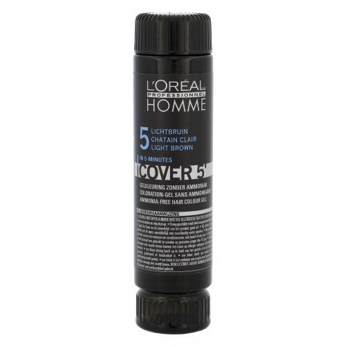 L´Oréal Professionnel Homme Cover 5´ 3x50 ml farba na vlasy poškodená krabička pre mužov 5 Light Brown
