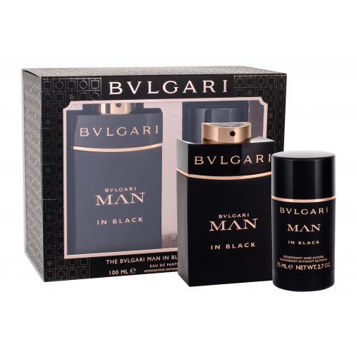 Bvlgari Man In Black darčeková kazeta pre mužov parfumovaná voda 100 ml + deostick 75 ml