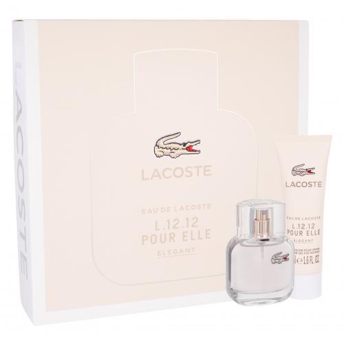 Lacoste Eau De Lacoste L.12.12 Pour Elle Elegant darčeková kazeta pre ženy toaletná voda 30 ml + sprchovací gél 50 ml