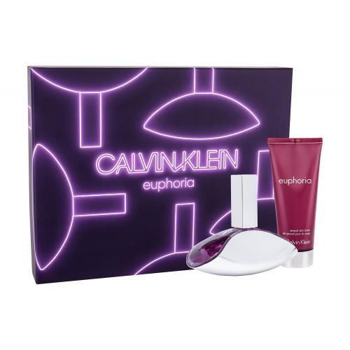 Calvin Klein Euphoria darčeková kazeta pre ženy parfumovaná voda 100 ml + telové mlieko 100 ml