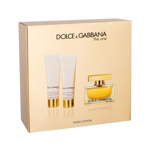 Dolce&Gabbana The One darčeková kazeta pre ženy Edp 75ml + 50ml tělové mléko + 50ml sprchový gel