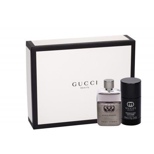 Gucci Guilty Pour Homme darčeková kazeta pre mužov toaletná voda 50 ml + deostick 75 ml