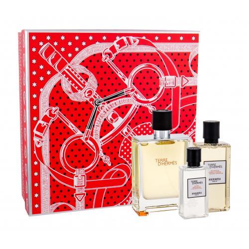 Hermes Terre D´Hermès darčeková kazeta pre mužov toaletná voda 100 ml + sprchovací gél 80 ml + voda po holení 40 ml