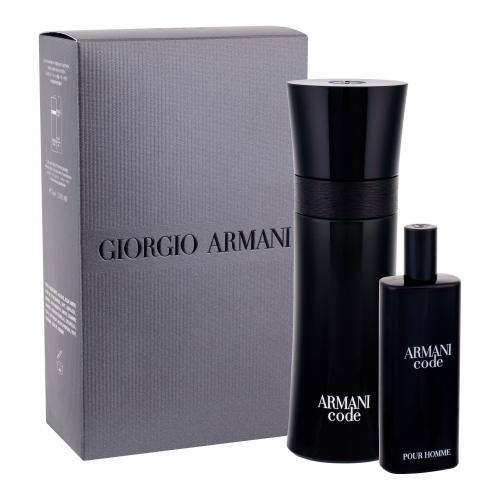 Giorgio Armani Armani Code Pour Homme darčeková kazeta pre mužov toaletná voda 75 ml + toaletná voda 15 ml
