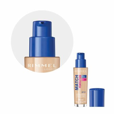 Rimmel London Match Perfection SPF20 Make-up pre ženy 30 ml Odtieň 100 Ivory