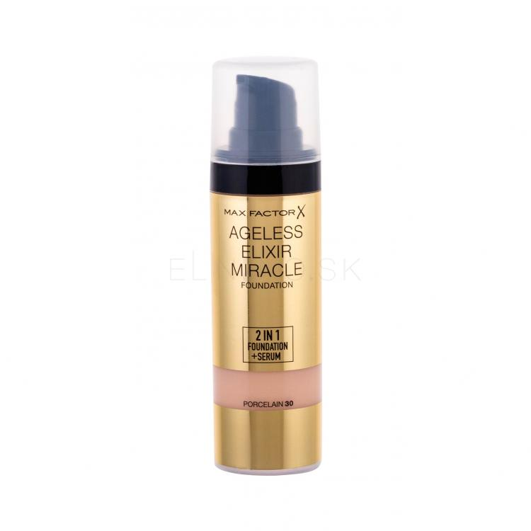 Max Factor Ageless Elixir 2in1 Foundation + Serum SPF15 Make-up pre ženy 30 ml Odtieň 30 Porcelain