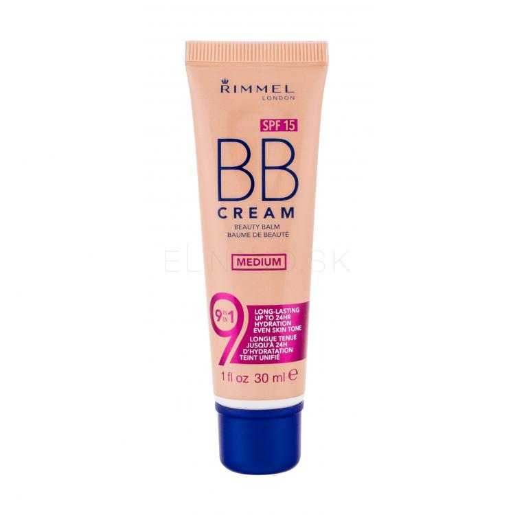Rimmel London BB Cream 9in1 SPF15 BB krém pre ženy 30 ml Odtieň Medium