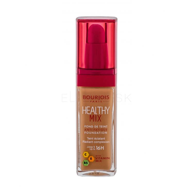 BOURJOIS Paris Healthy Mix Anti-Fatigue Foundation Make-up pre ženy 30 ml Odtieň 58 Caramel