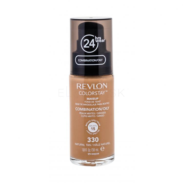 Revlon Colorstay Combination Oily Skin Make-up pre ženy 30 ml Odtieň 330 Natural Tan