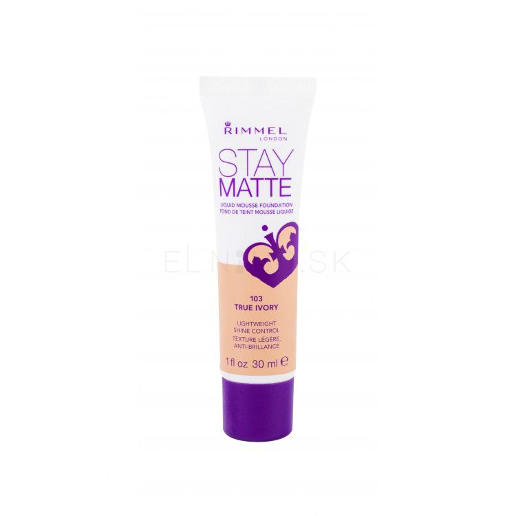 Rimmel London Stay Matte Liquid Mousse Foundation Make-upy pre ženy