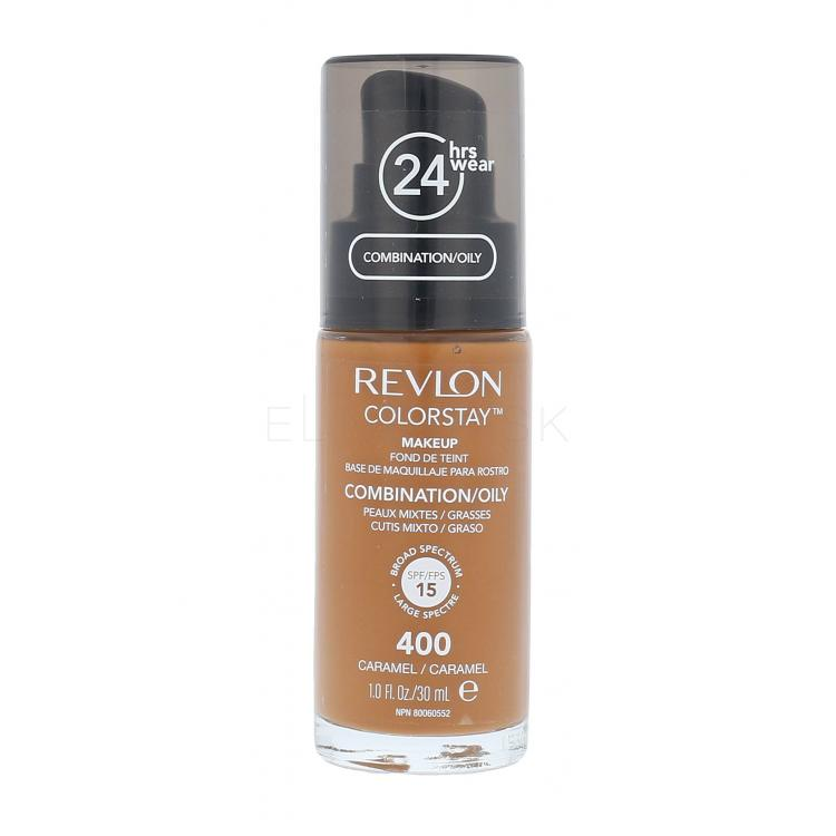 Revlon Colorstay Combination Oily Skin SPF15 Make-up pre ženy 30 ml Odtieň 400 Caramel