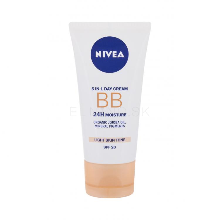 Nivea BB Cream 5in1 Beautifying Moisturizer SPF20 BB krém pre ženy 50 ml Odtieň Light