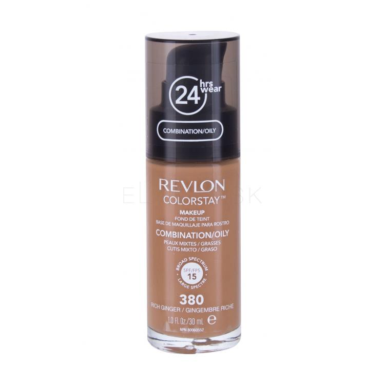 Revlon Colorstay Combination Oily Skin SPF15 Make-up pre ženy 30 ml Odtieň 380 Rich Ginger