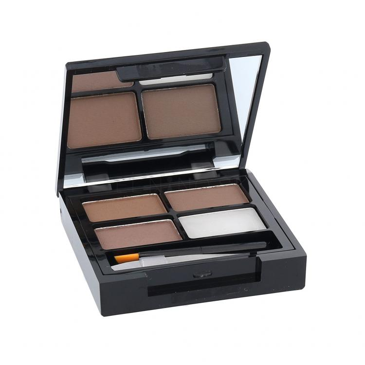 Makeup Revolution London Focus & Fix Eyebrow Shaping Kit Set a paletka na obočie pre ženy 5,8 g Odtieň Medium Dark