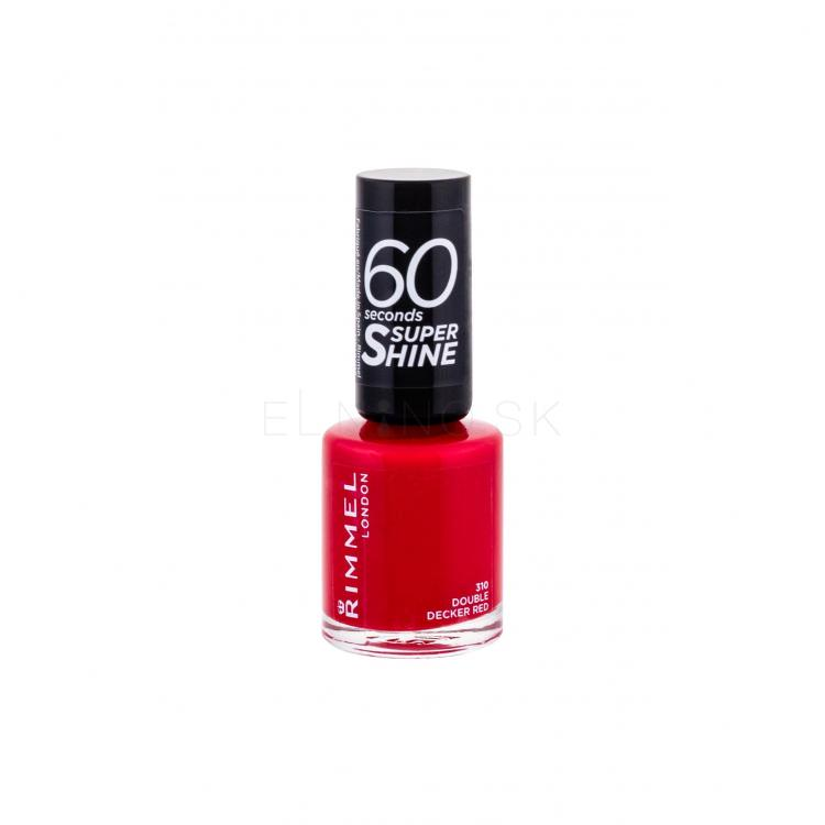 Rimmel London 60 Seconds Super Shine Lak na nechty pre ženy 8 ml Odtieň 310 Double Decker Red