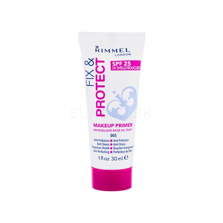 Rimmel London Fix & Protect Makeup Primer SPF25 Podklady pod make-up pre ženy