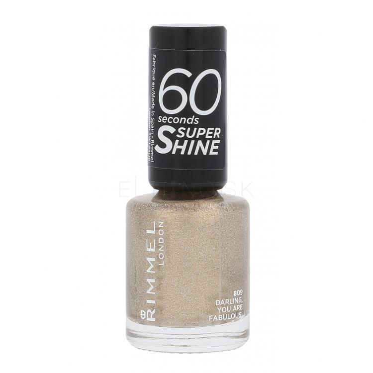 Rimmel London 60 Seconds Super Shine Lak na nechty pre ženy 8 ml Odtieň 809 Darling, You Are Fabulous!