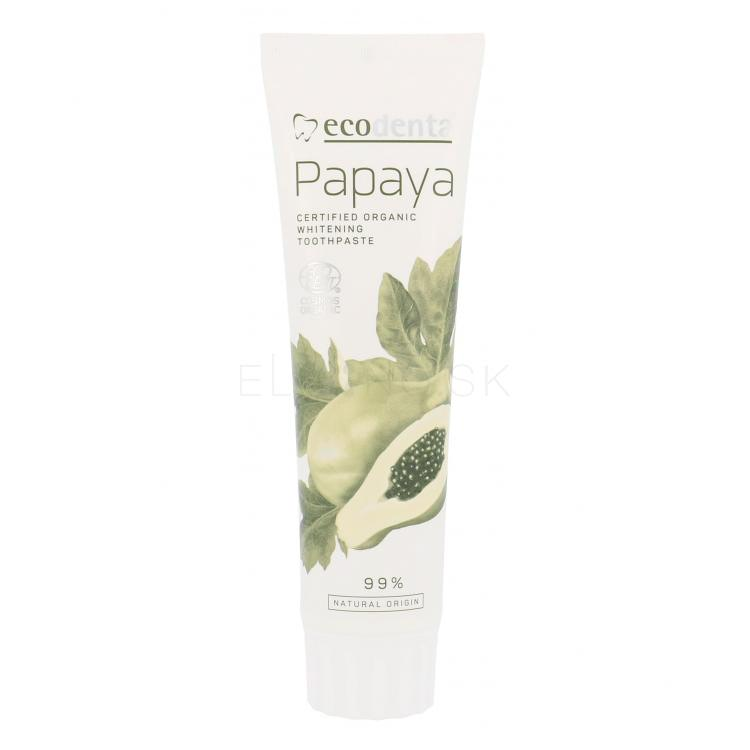Ecodenta Organic Papaya Whitening Zubná pasta 100 ml